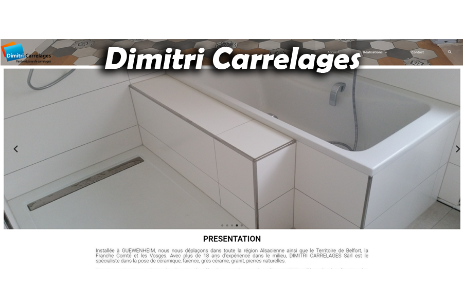 site Dimitri carrelage par softup