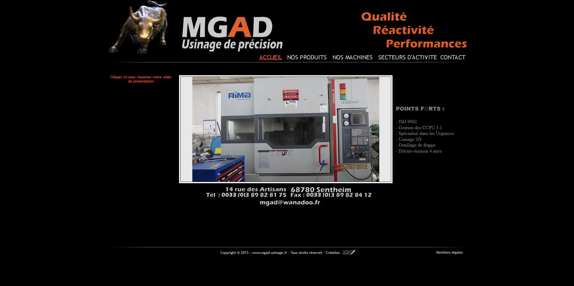 site MGAD par softup